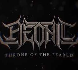 "Aeonic lyric-video de ""Throne Of The Feared"""